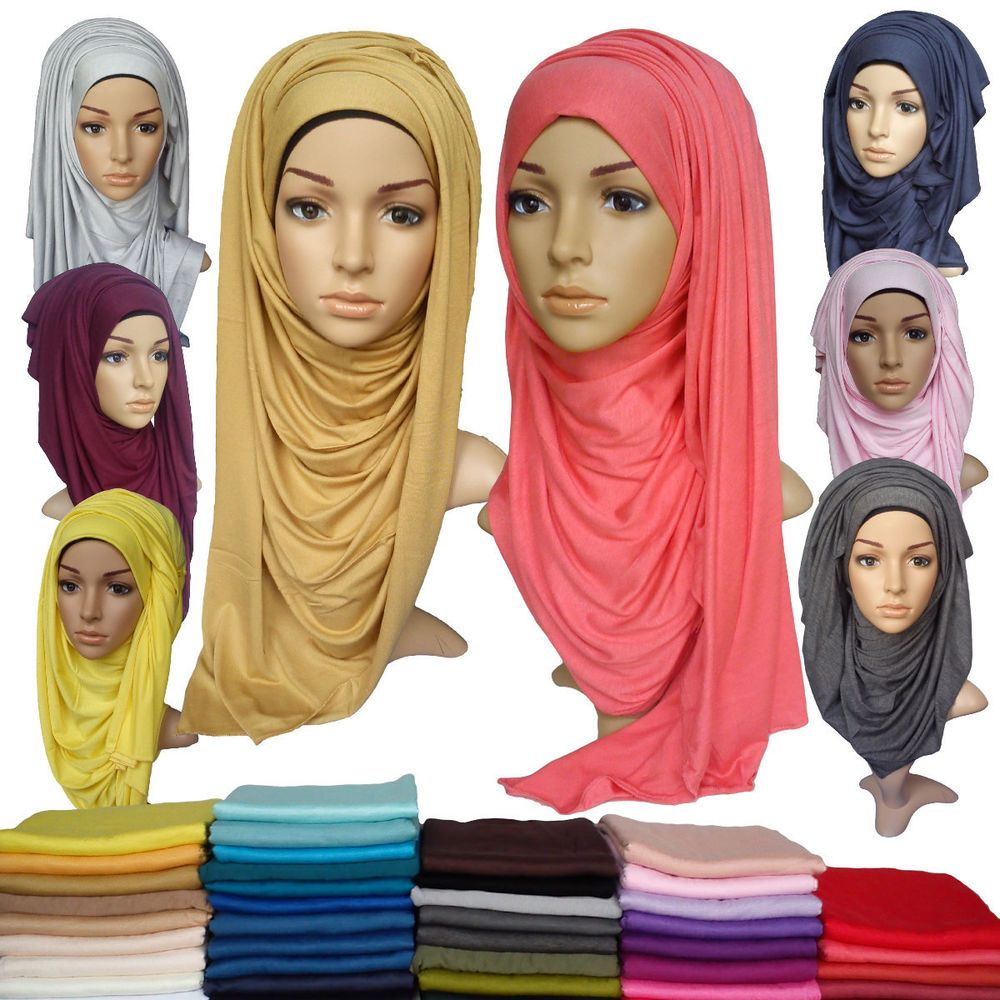 Details About JERSEY MAXI HIJAB Stretchy Neck Scarf Sarong