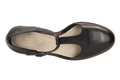 9ec1b754c1cd Clarks Taylor Palm - Black Leather - Womens Casual Shoes