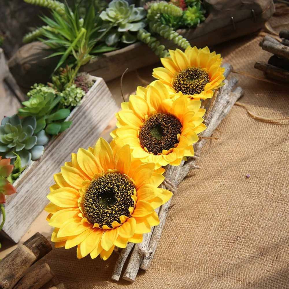 Artificial Sunflower Heads For DIY Wedding & Party