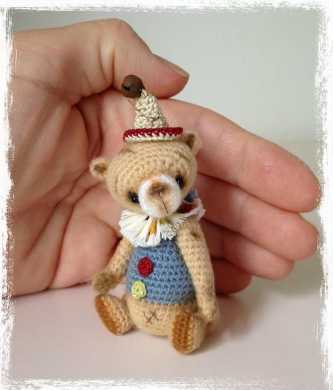 Looking for crocheting project inspiration? Check out Mini Thread Crochet Bear ♡