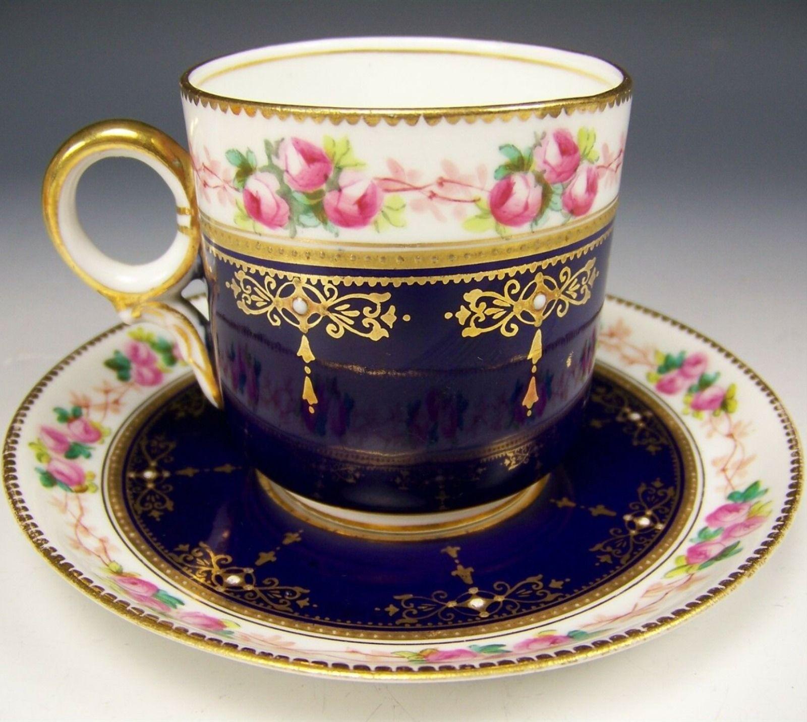 Antique Old Paris Cup And Saucer Hand Painted Xicaras De Cha Conjunto De Cha Vintage Xicaras De Cha Vintage