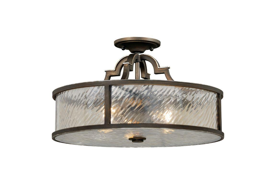 Vaxcel Lighting C0030 Simone 3 Light 17 Wide Flush Mount Indoor Ceiling Fixture Venetian Bronze