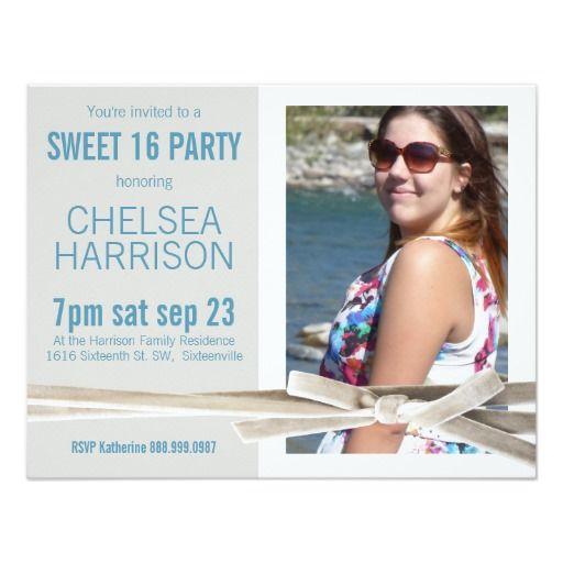 Fresh Sweet 16 Photo Birthday Party Custom Invitation Photo 16th - fresh invitation card of birthday