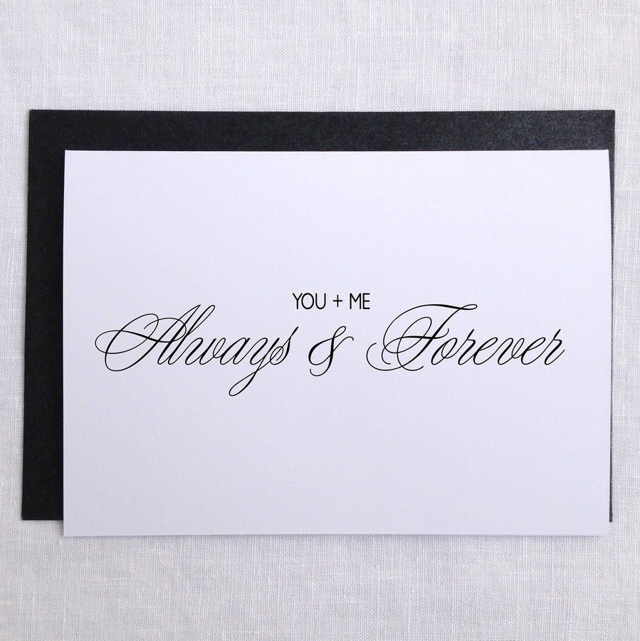 you and me always and forever wedding card wedding card and wedding