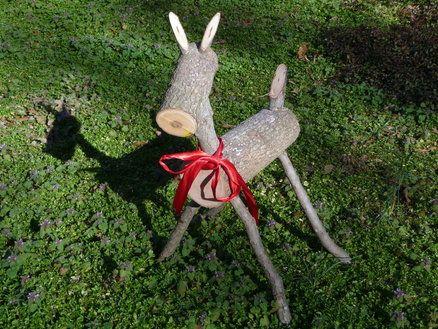Yard Art Dog Deer Reindeer Made