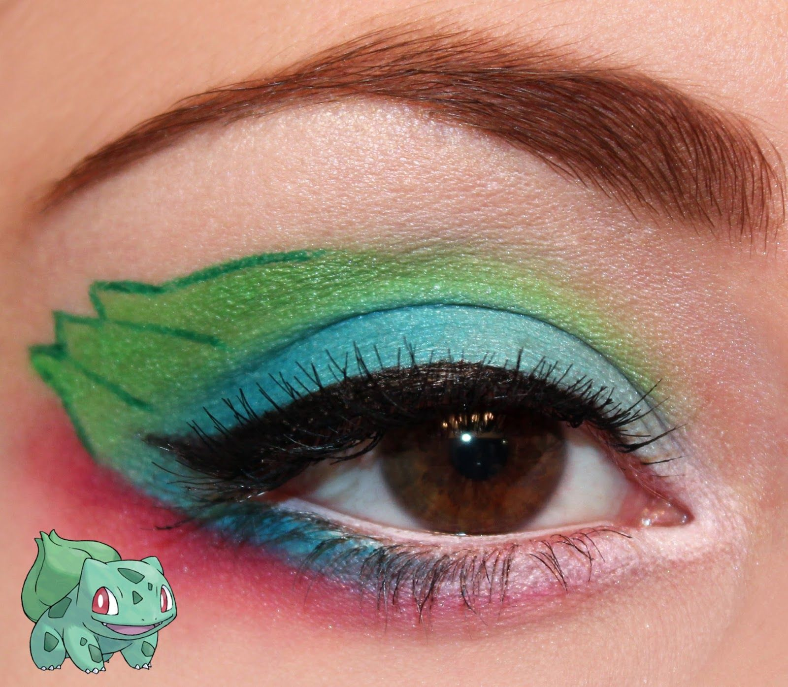 Pokemon Series Bulbasaur Inspired Makeup Look Step By Step
