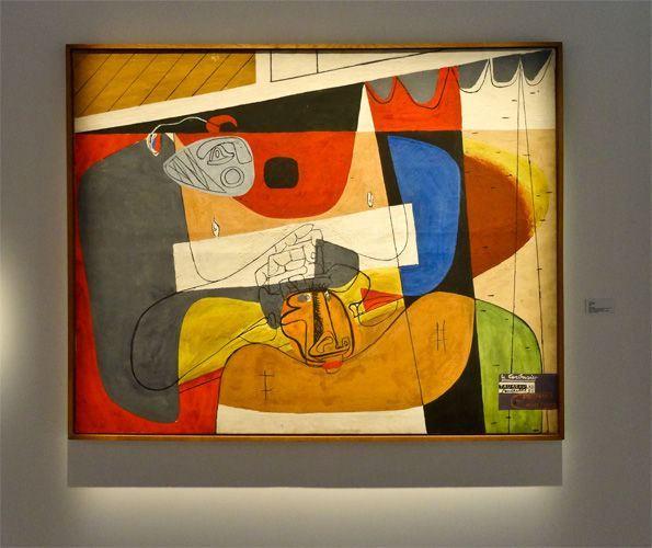 Le Corbusier,Taureau XIII, 1956. Huile sur toile Dimensions : H : 1,30 m x L : 1,62 m Signé et daté en bas à droite Le Corbusier. Taureau XIII. / Pentecôte 56. / Naissance du Minotaure Au dos :Taureau XIII. mai 56. Le Corbusier Peinture FLC 167 Paris. Fondation Le Corbusier.