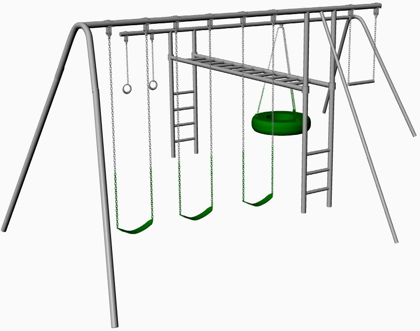 hercules metal swing set with monkey bars dyi for your
