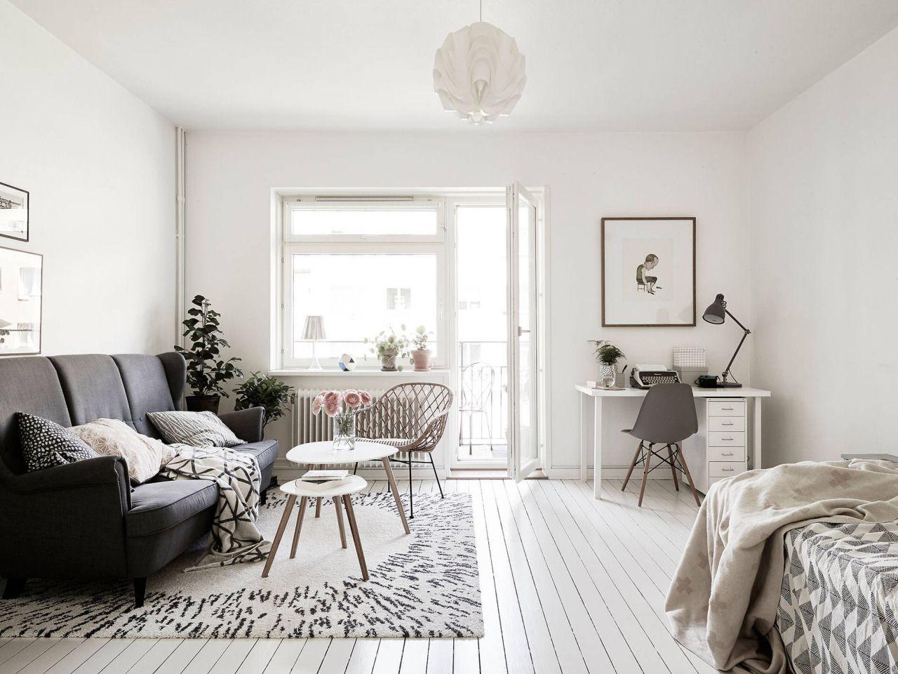 Light Scandinavian studio apartment