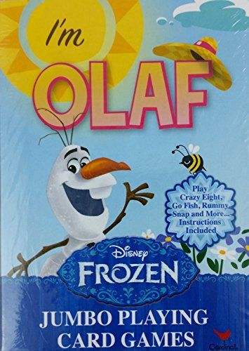 Disneys Frozen Im Olaf Jumbo Playing Cards With Instructions For