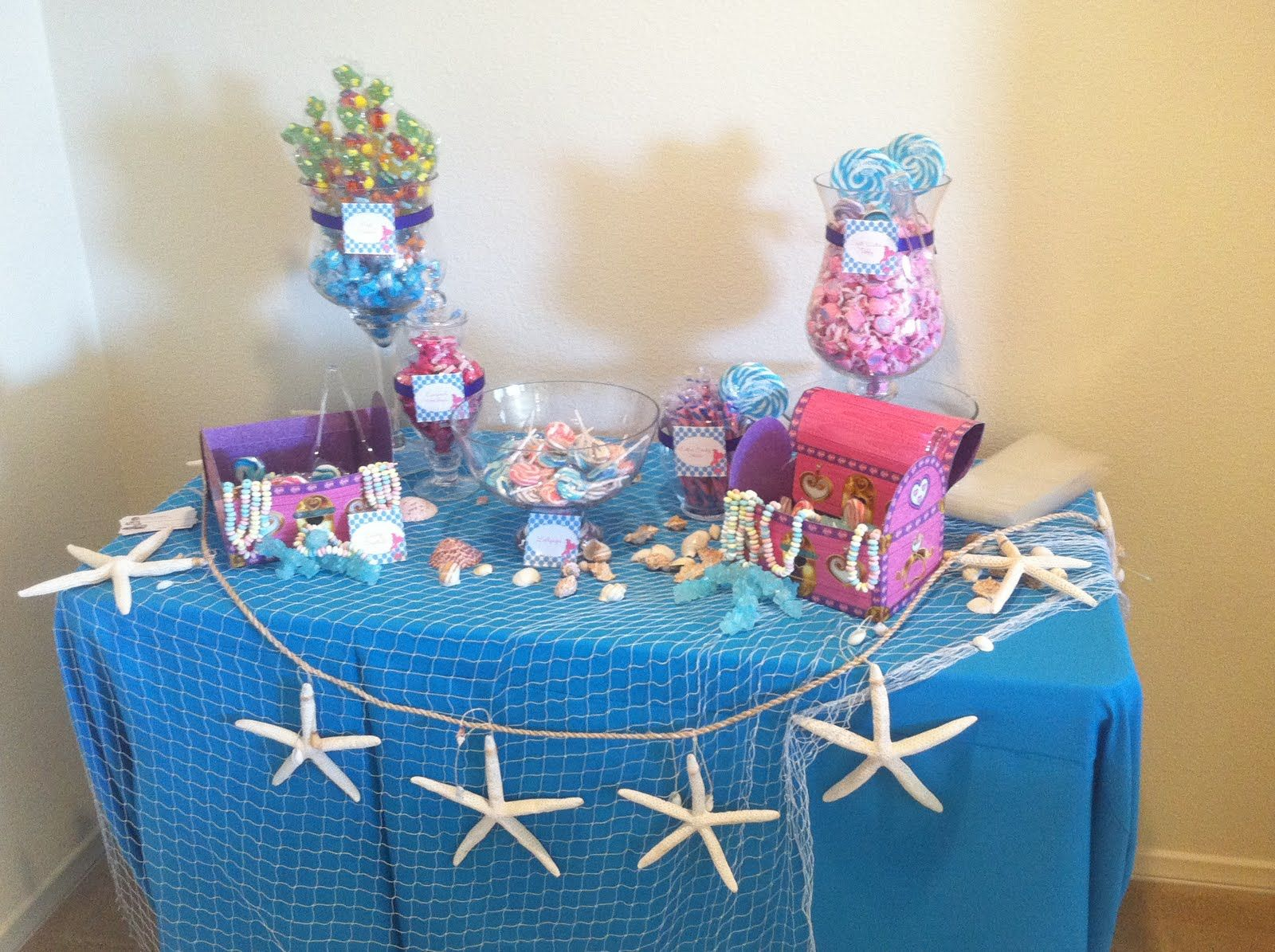 Mermaid Birthday Party Idea Sensations Candy Stations