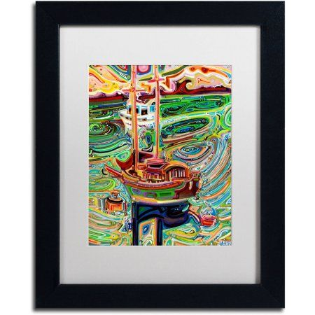 Trademark Fine Art Sailing to Tofino Canvas Art by Josh Byer, White Matte, Black Frame, Size: 11 x 14, Multicolor
