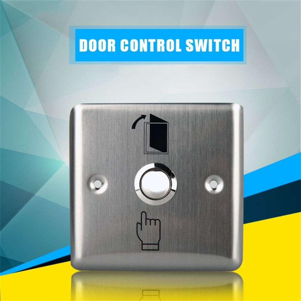Hot Sale Convenient Stainless Steel Switch Panel Door Exit Push Home Release Button Access Control K14 Gate Opener Acces Panel Doors Steel House Access Control