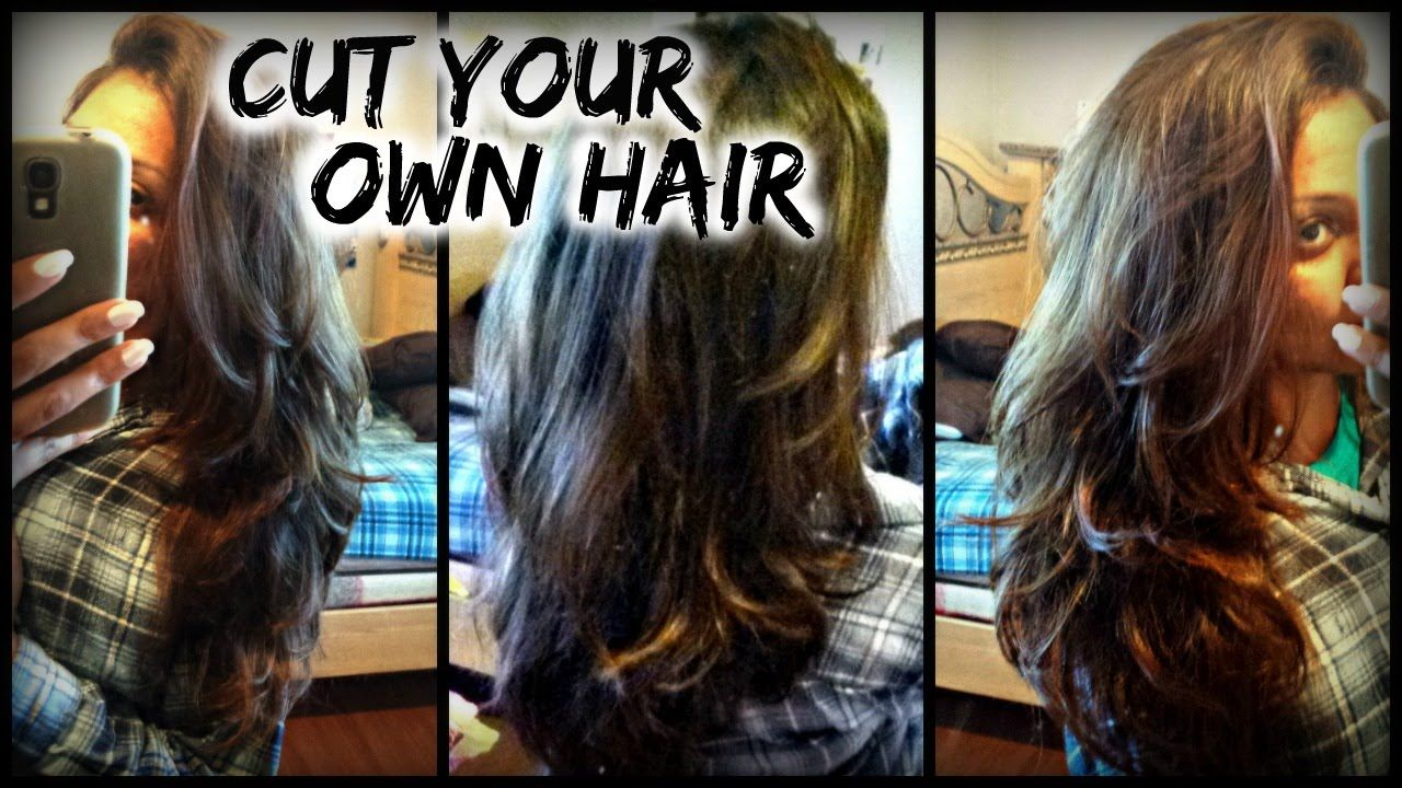 How To Cut Your Own Hair In Layers At Home Diy Layers For Long