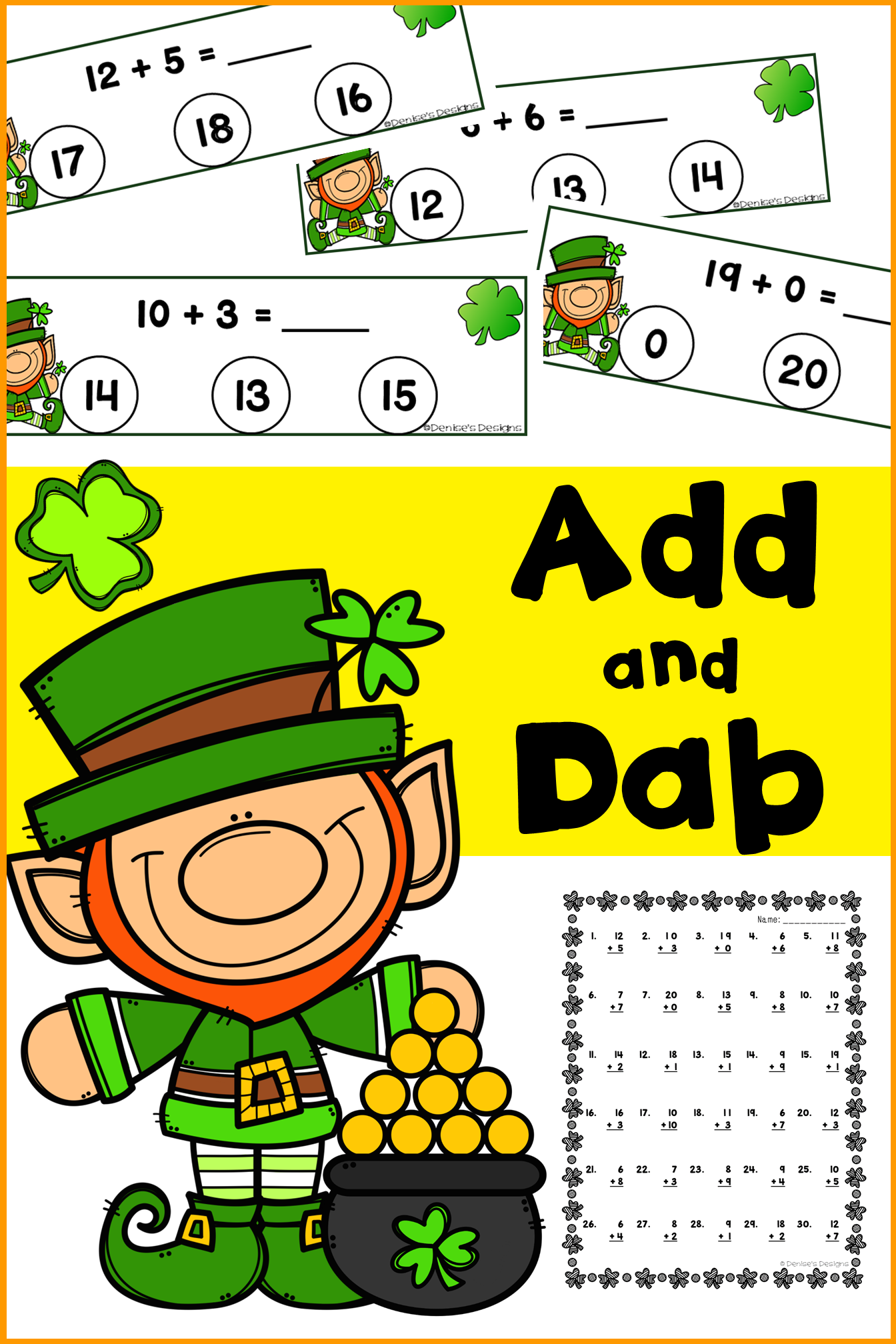 Add Within 20 St Patrick S Day