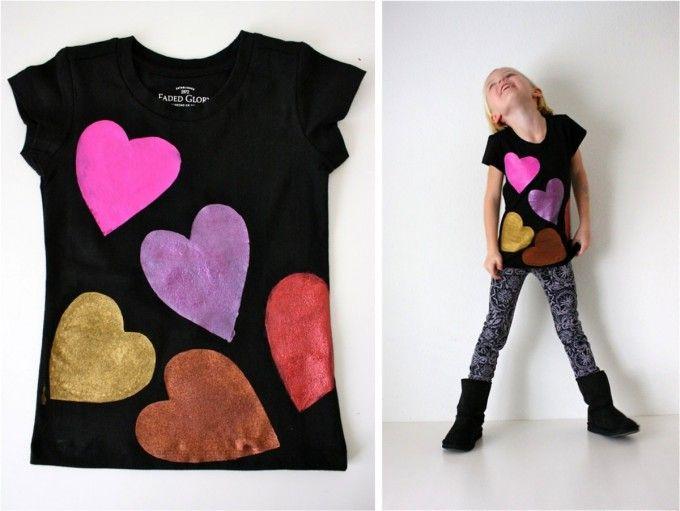 5eb82d6c04f9f8 playera con corazones | playeras | Camisetas, Camisetas diy y Ropa ...