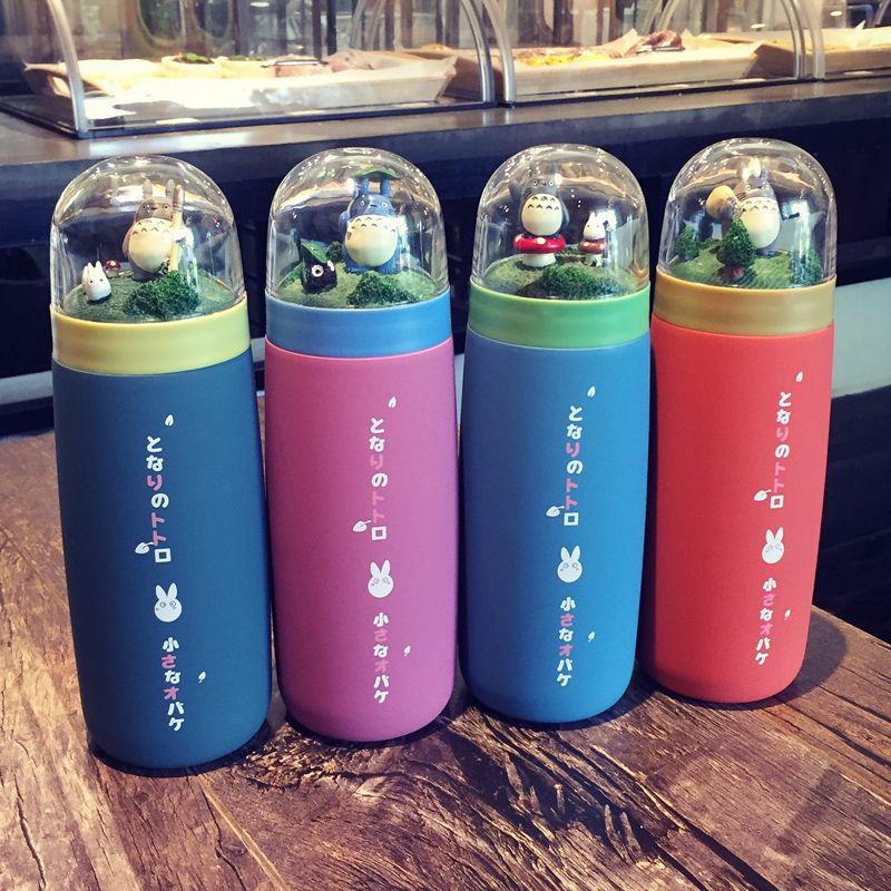 Japanese Cute Anime Vacuum Cup Creative Lovers Gift Idea