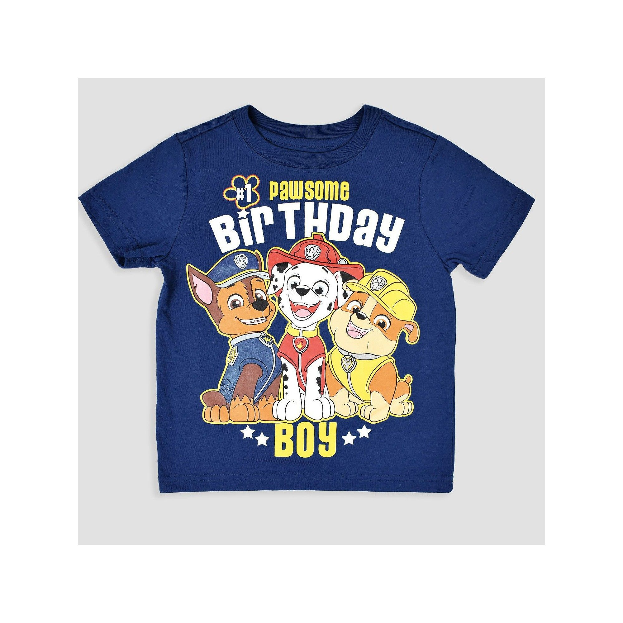Toddler Boys Paw Patrol Pawsome Birthday Short Sleeve T Shirt