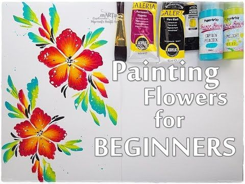 EASY Painting Acrylic Flowers For Beginners Maremis Small Art