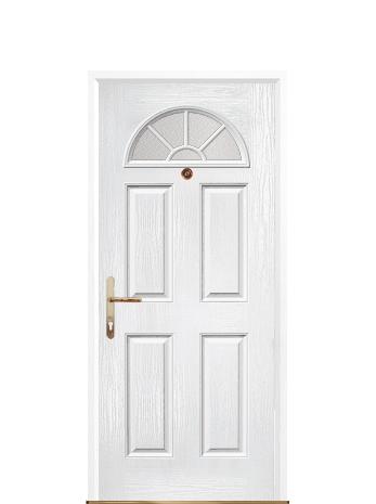 4 Panel Sunburst White Front Door Front Door White Front Door Composite Front Door