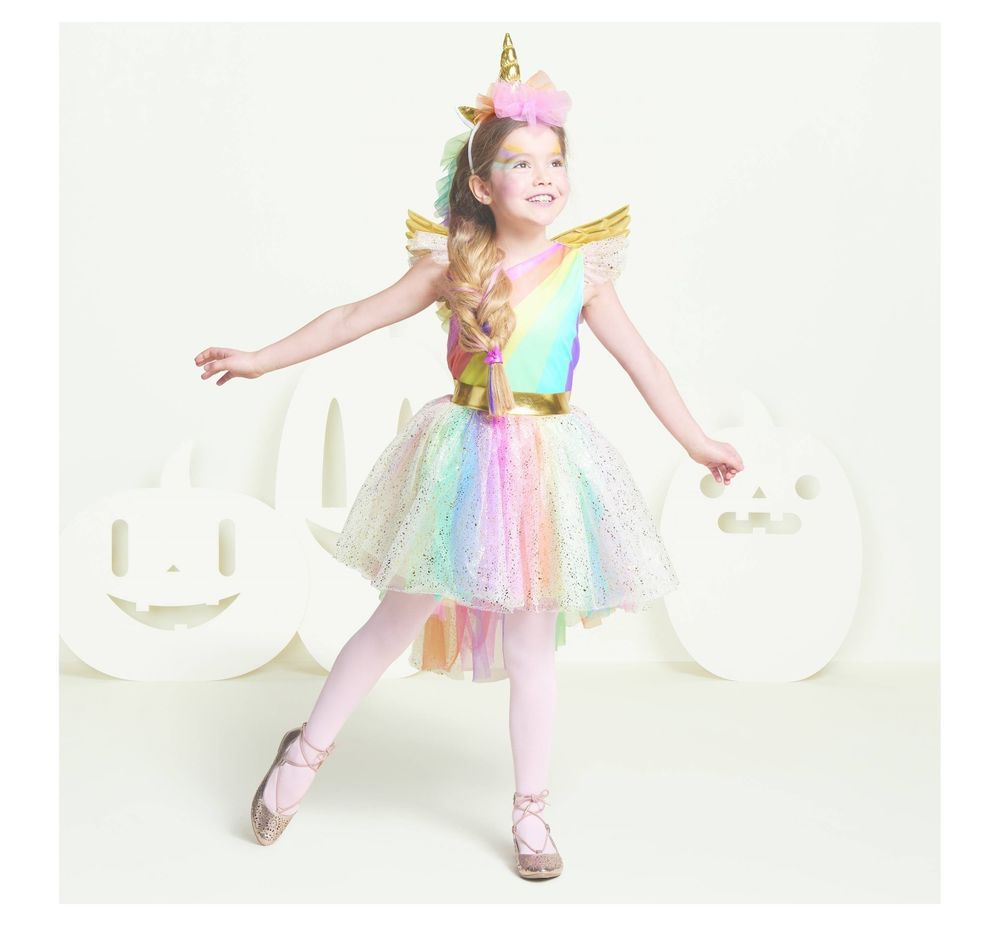 61fe6ed5f645 NEW TARGET UNICORN COSTUME WINGS HORN HEADBAND RAINBOW BIRTHDAY DRESS SET  2t 3t #fashion #costumes
