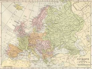 1911 Map of Europe - Pre WWI; by Herbert Adams Gibbons | Old Maps ...
