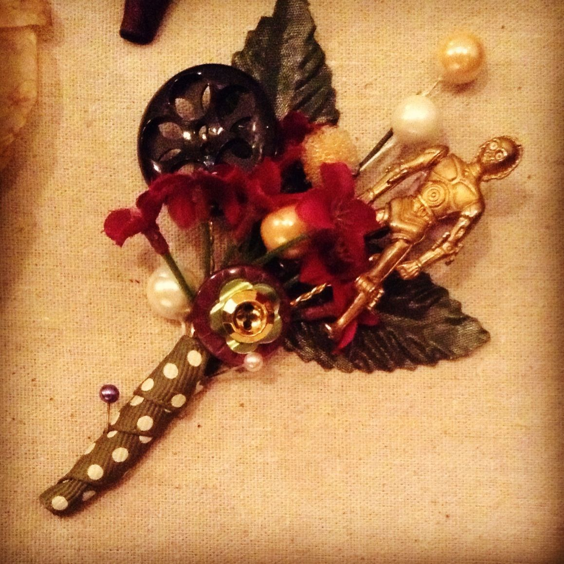 Boutonniere for the star wars lover corsage wonders