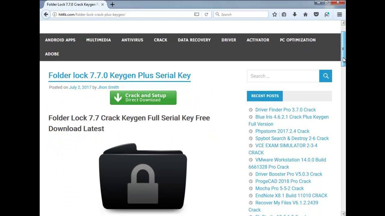 Folder Lock 7 7 5 Crack Full Serial Key (Win / Adnroid / MAc) 2018