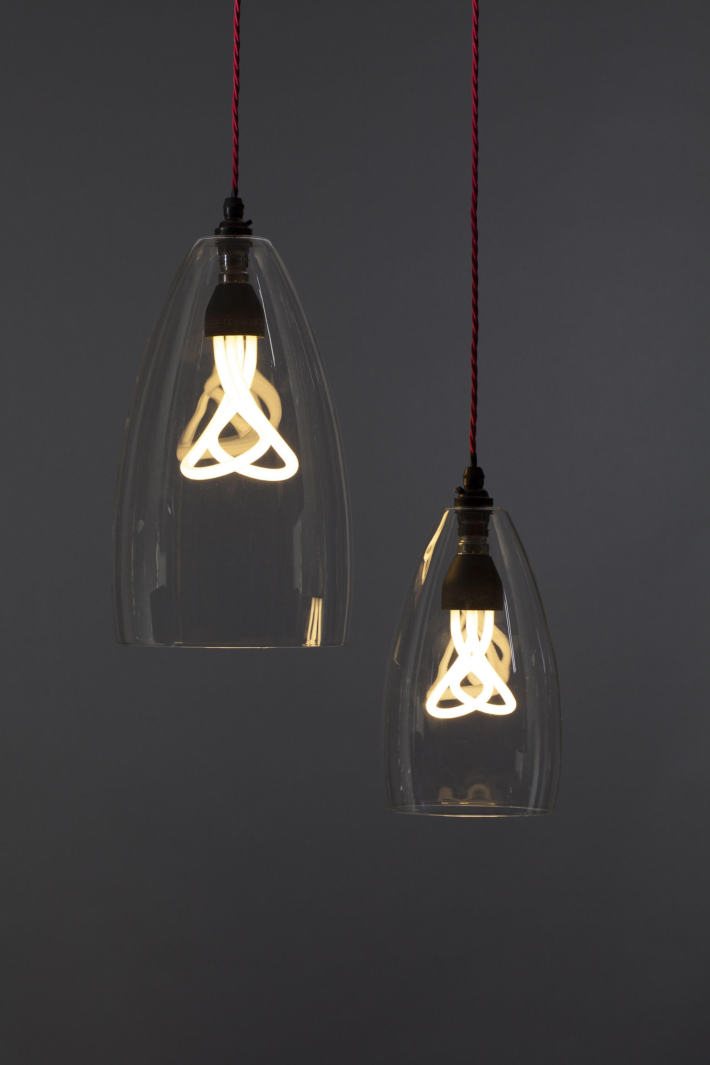 Plumen in Fritz Fryer Upton Clear Glass Pendant Light