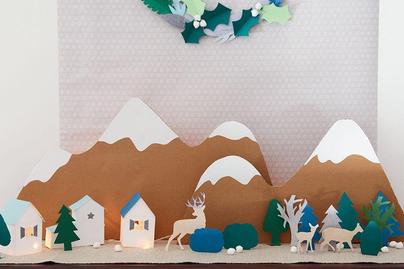 Retrouvez toutes les instructions et patrons pour réaliser facilement ce village de Noël avec sa forêt et ses animaux . Faites entrer la magie !