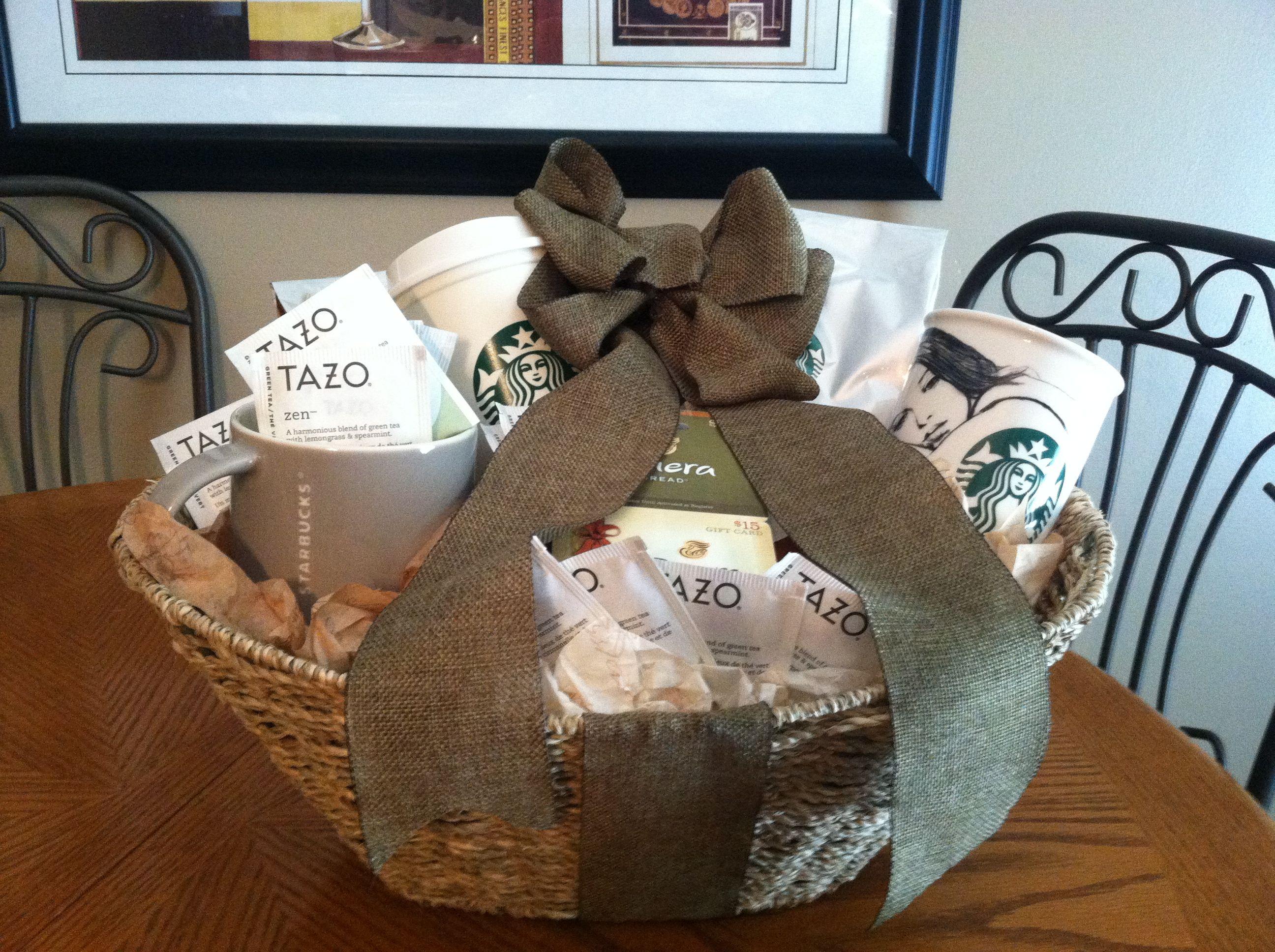 Coffee and tea basket coffee gifts basket picnic basket