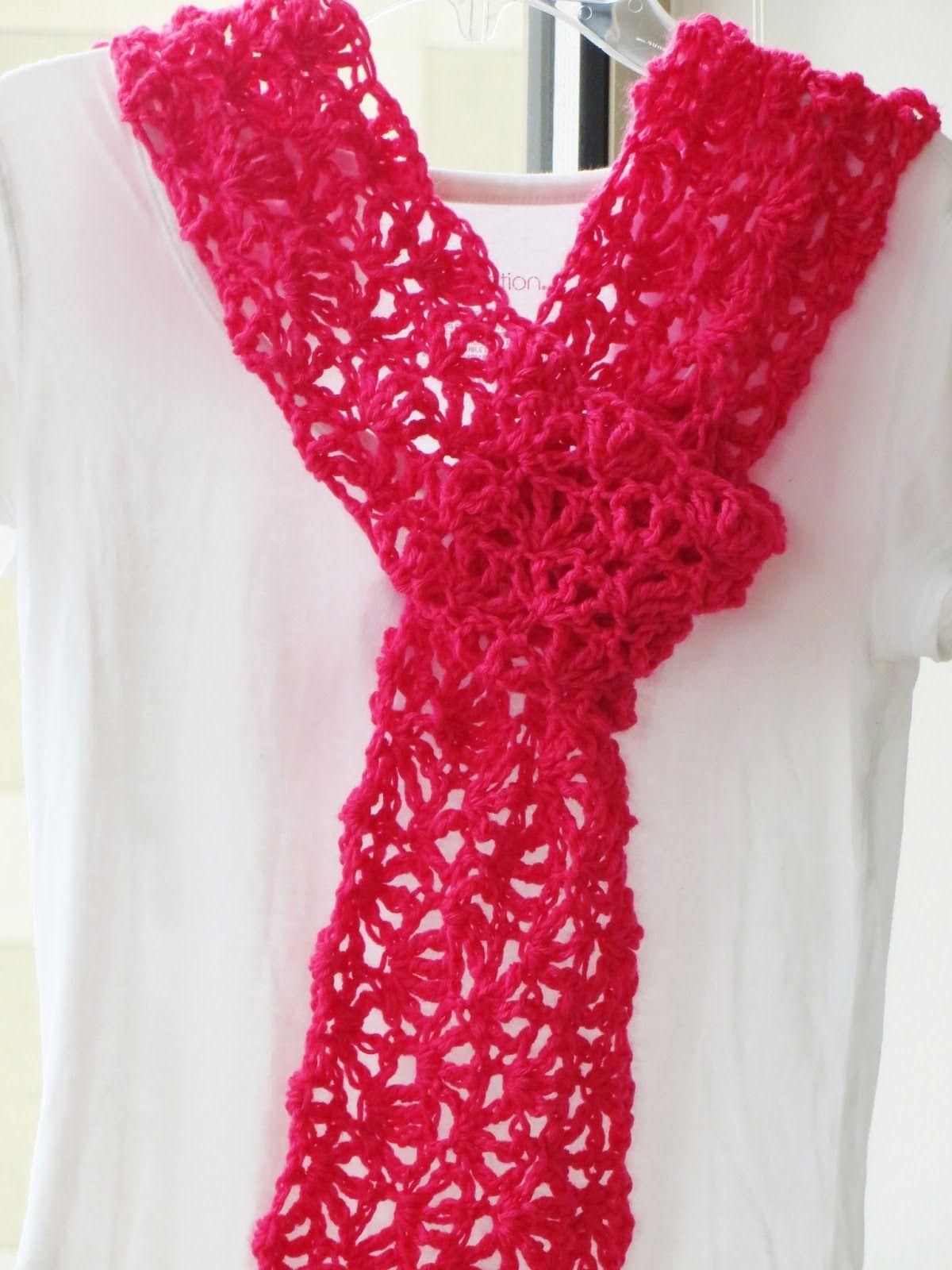 Alana Lacy Scarf, Free Crochet Pattern   Häkeln