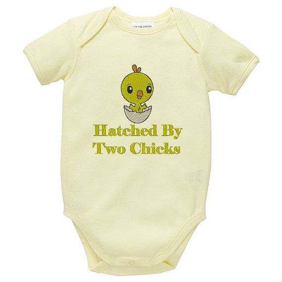 Lesbian parents hatched by two chicks lgbt by babyspreciousgifts baby amp children clothing