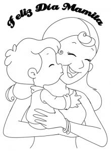 Feliz Dia Mamita Para Colorear Moldes Dibujos Del Día De Las