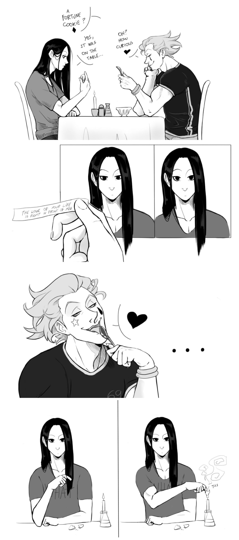 -Bad fortune ? ♠️ -Yes. Illumi Zoldyck - Hisoka - HUNTERxHUNTER - HxH - Hunter x Hunter - manga - boy - guy - anime - cover - vol - chapter