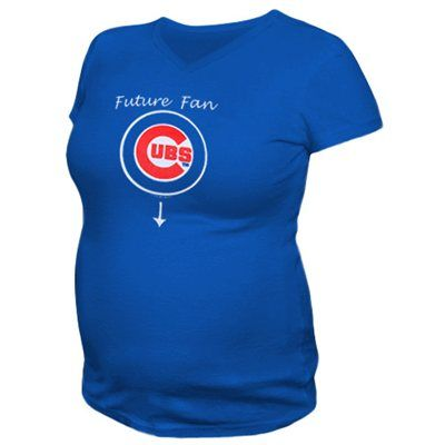 913e4bc6 Chicago Cubs Maternity Future Fan V-neck T-Shirt - Royal Blue | Baby ...