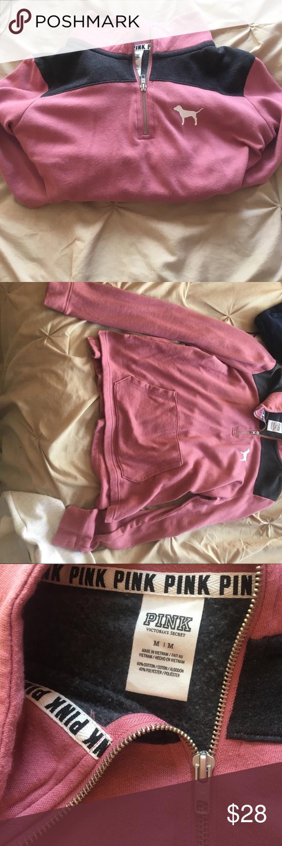 Pink - Victoria Secret Sweater Super cute! Never worn, soft in the inside. Size M but can fit a small! 💗💗💗 PINK Victoria's Secret Sweaters
