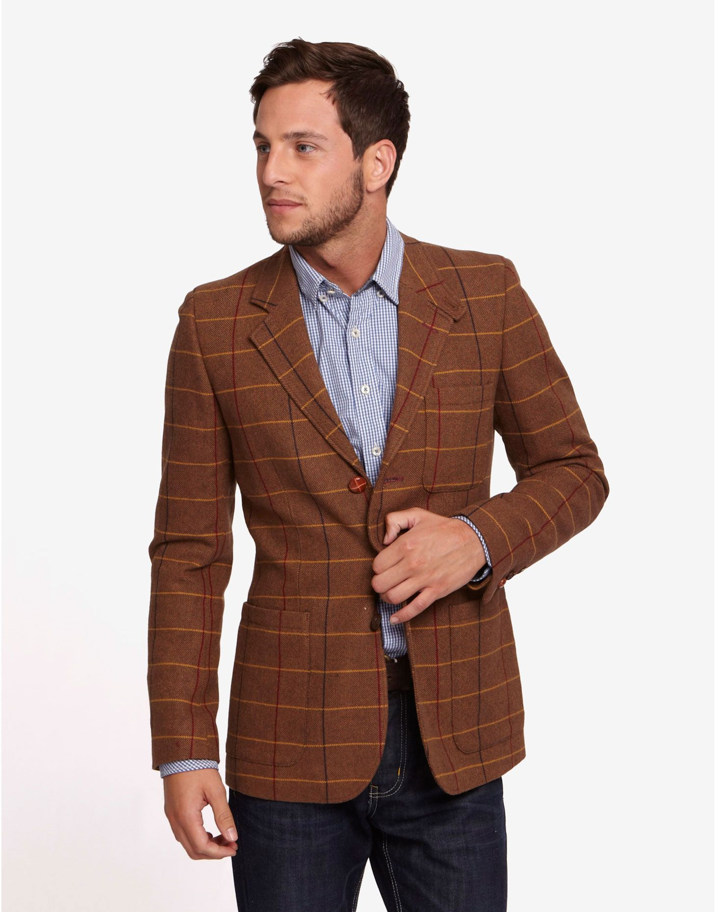 Pockets, high quality wool blend tweed fabric, suitable for casual Men's Blazer Shop Best Sellers · Deals of the Day · Fast Shipping · Read Ratings & Reviews.
