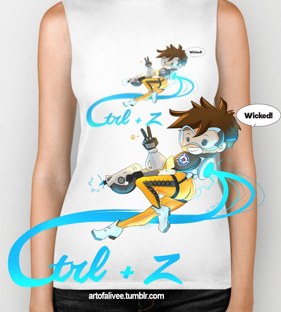 Ctrl + Z Tee by Astrobunny! Inspired by the only character than can truly undo... Tracer!