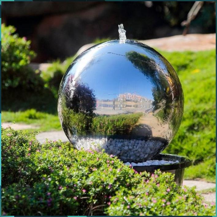 Kohko Gartenbrunnen Uranus Silber Edelstahl In 2020 Gartenbrunnen Brunnen Brunnen Garten