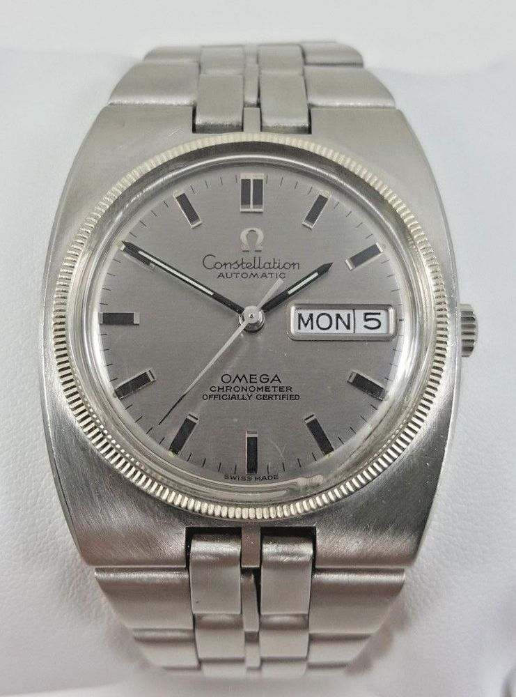 0831e8fc73a Vintage Omega Constellation Automatic Stainless Steel Men s Watch 168.045