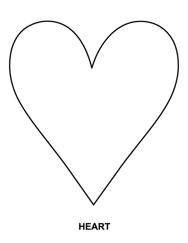 Heart coloring page  Download Free for kids