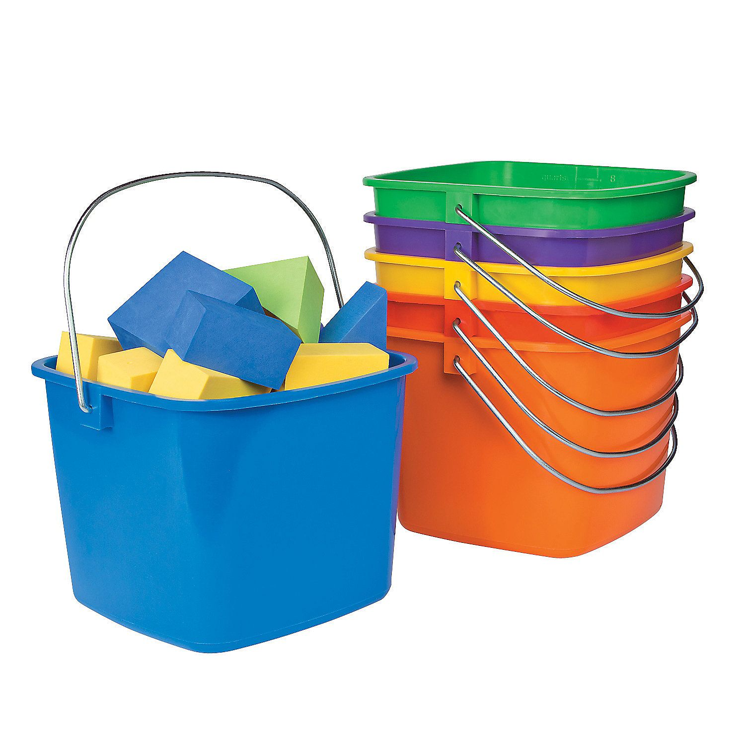 Uncategorized Large Buckets large pail with handle orientaltrading com homeschool supplies com
