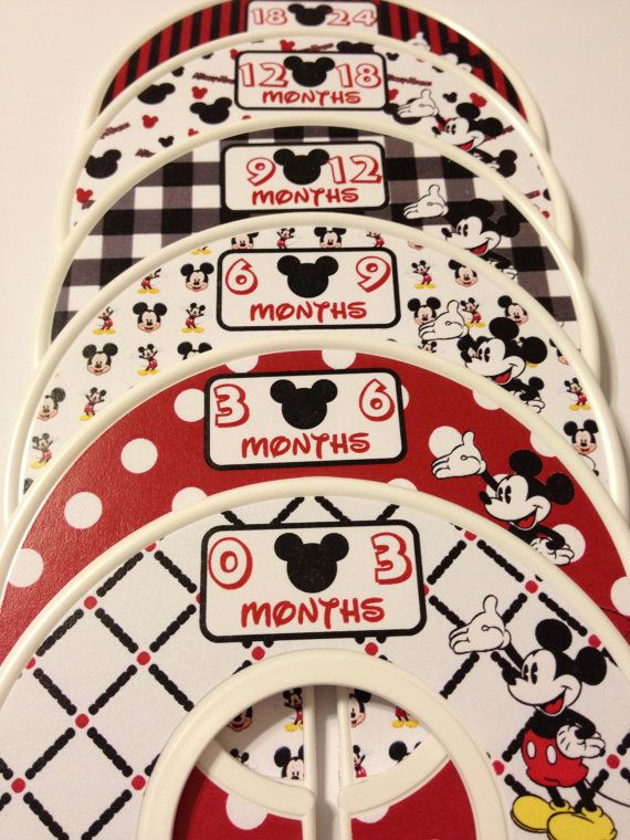 6 custom baby closet clothes dividers mickey mouse nursery baby 6 custom baby closet clothes dividers mickey mouse nursery baby closet organizers perfect shower gift disney stocking stuffers negle Image collections