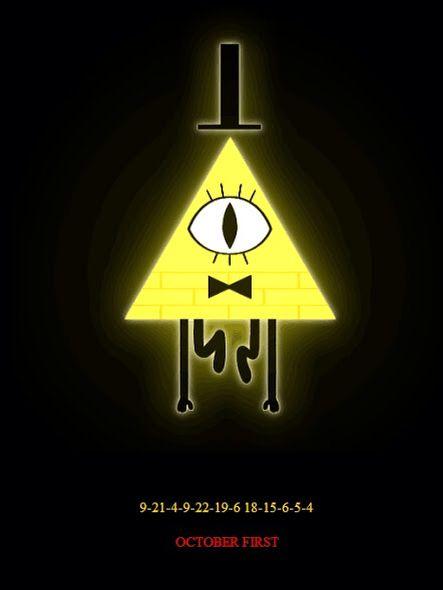 Bill Poster With A Code Gravity Falls Illuminati Cosplay Iphone Wallpaper Fall