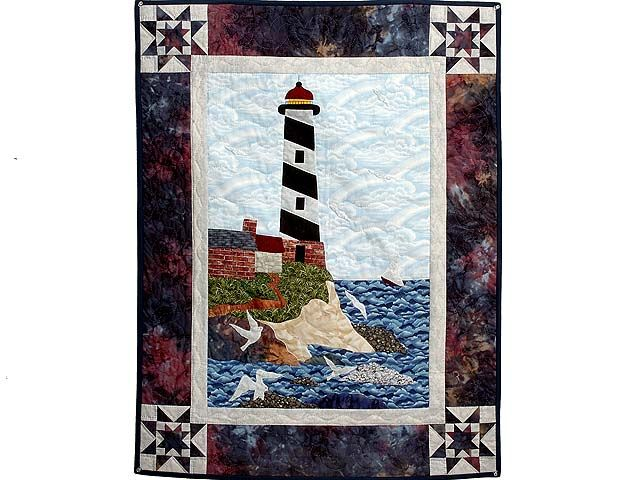 Amish Wall Quilts Northeastern Lighthouse Wall Hanging
