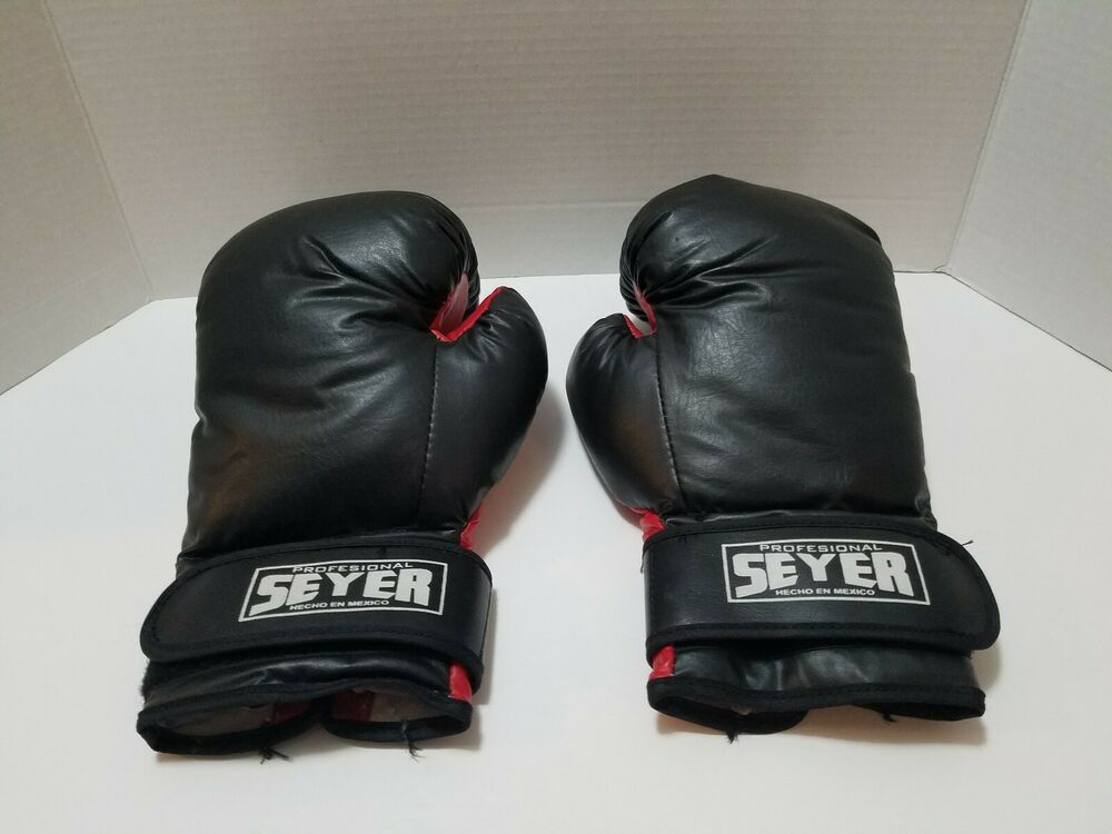 BLACK /'RAJA/' SPARRING PADWORK GLOVES FOR MUAY THAI SPORTS TRAINING