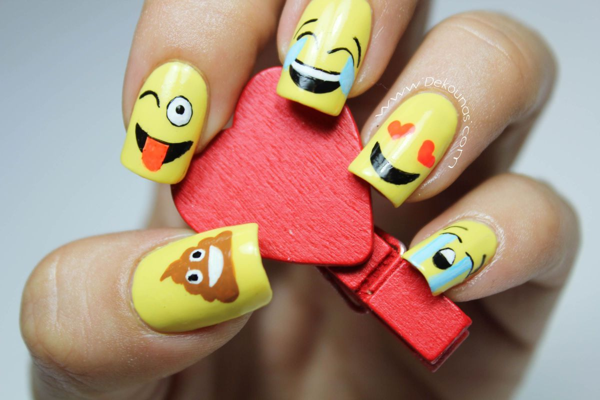 Excepcional Arte De Uñas Emoji Componente - Ideas de Arte de Uñas ...