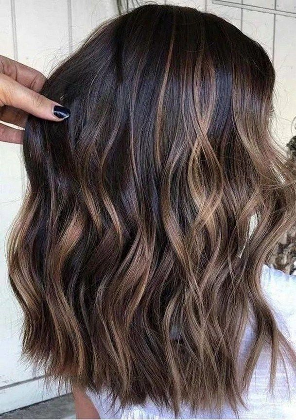 Photo of ✔50 Hairstyles for Dark Brown Hair with Highlights