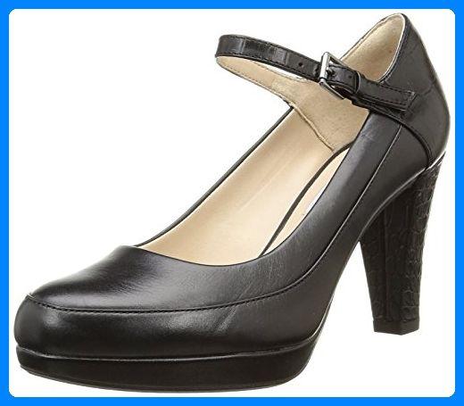 Clarks Kendra Dime, Damen Knöchelriemchen Pumps, Schwarz (Black Combi Leather), 40 EU (6.5 Damen UK) - Damen pumps (*Partner-Link)